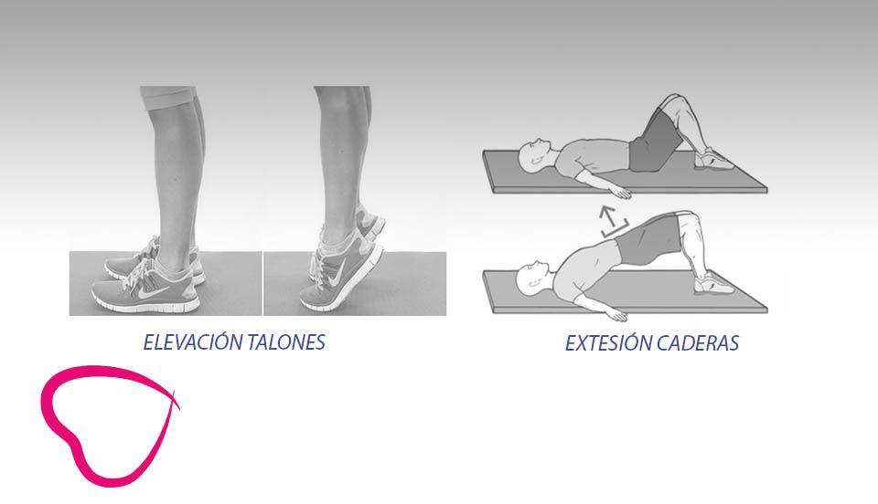 Elevación talones y extensión cadera - ejercico mayores